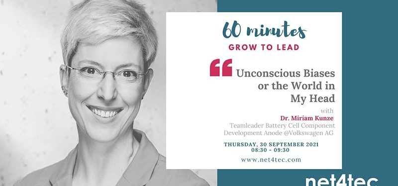 60 minutes GROW TO LEAD – Unconscious Biases or the World in My Head
